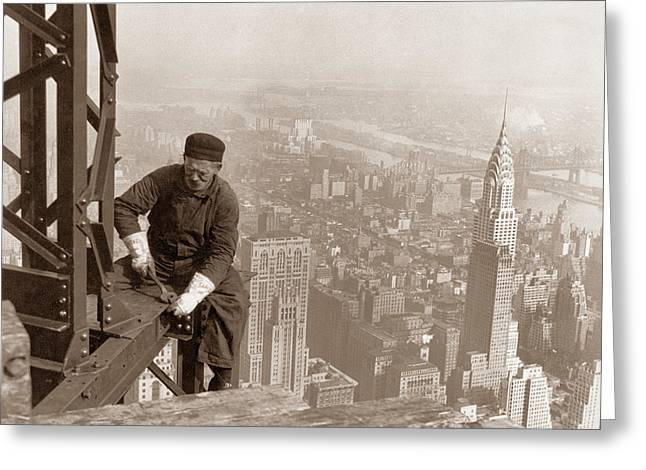 Empire State Building Construction Photograph By War Is