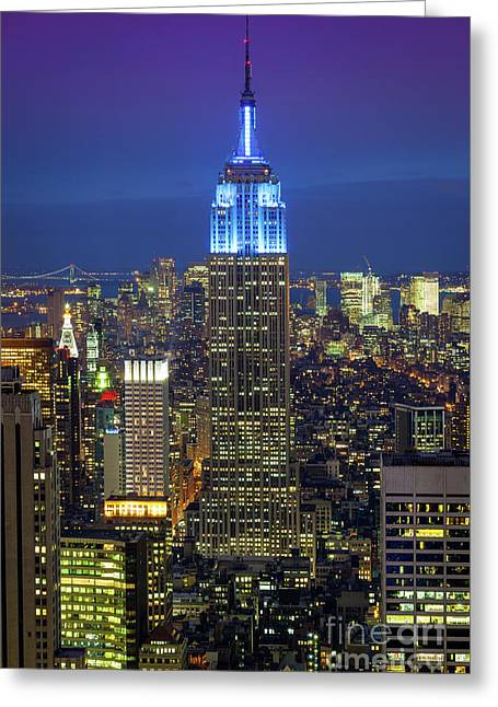 Empire State Building Greeting Card by Inge Johnsson