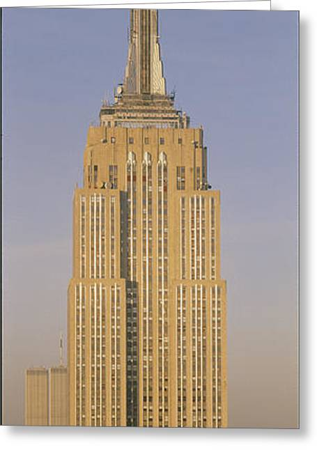 Empire State Building New York Ny Greeting Card by Panoramic Images
