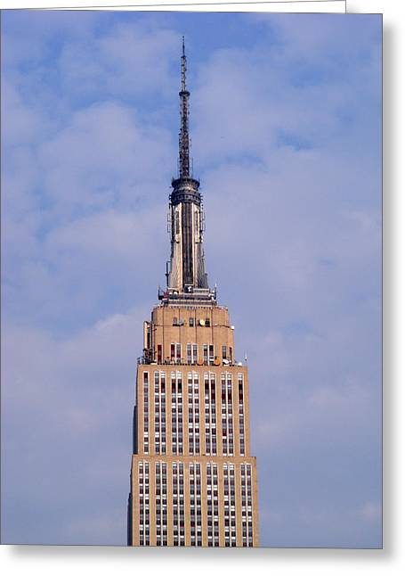 Greeting Card featuring the photograph Empire State Building Observatory by Margie Avellino