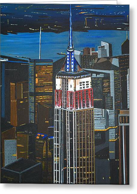 Empire State Greeting Card by Donna Blossom