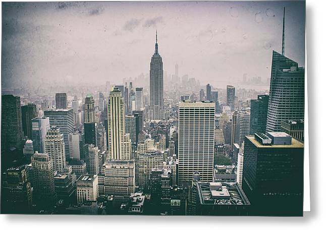 Empire State Nyc Greeting Card by Martin Newman
