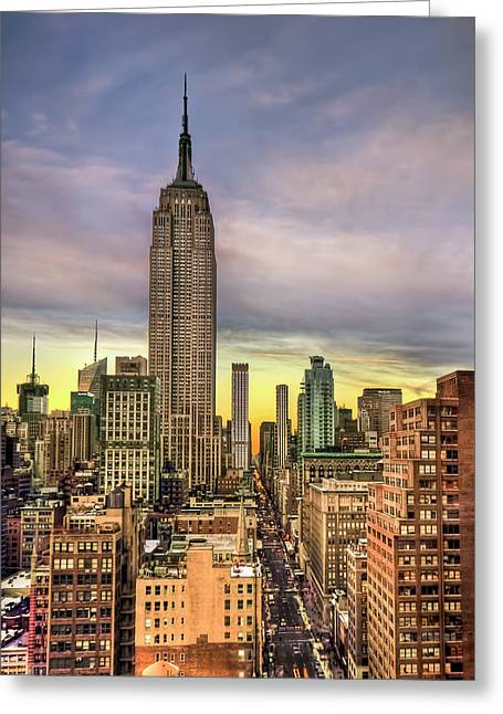 Empire State Of Mind Greeting Card by Evelina Kremsdorf