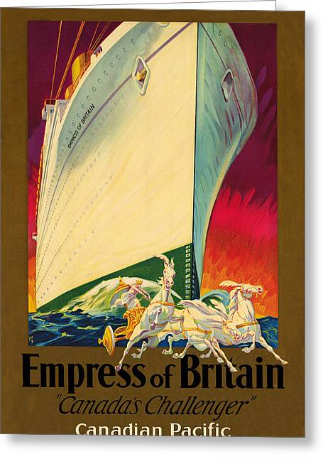 Empress Of Britain 1931 Greeting Card