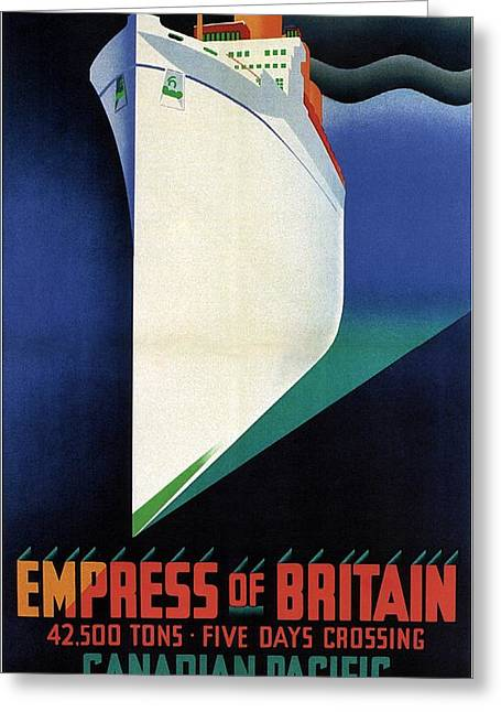 Empress Of Britain - Canadian Pacific - Steamship - Retro Travel Poster - Vintage Poster Greeting Card