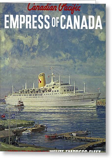 Empress Of Canada 1961 Greeting Card