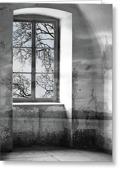 Greeting Card featuring the photograph Emptiness by Munir Alawi