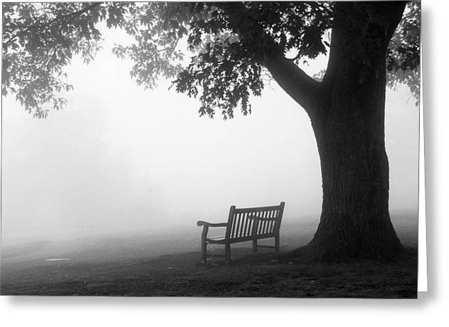 Greeting Card featuring the photograph Empty Bench by Monte Stevens