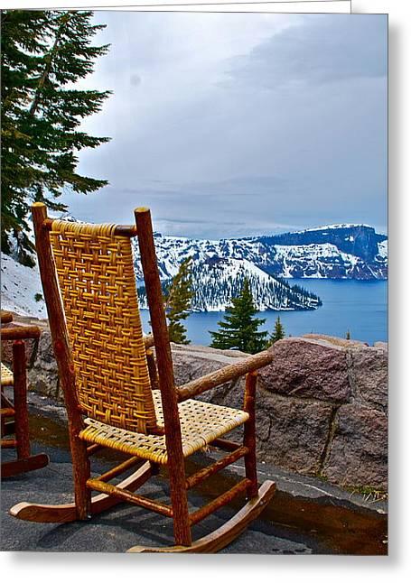 Empty Chair Greeting Card by Dorota Nowak