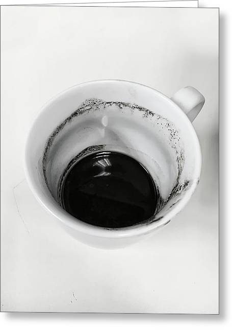 Empty Coffee Cup Greeting Card