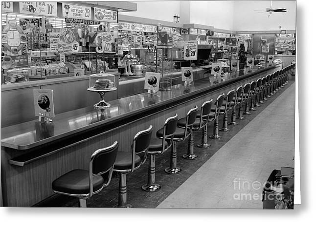 Empty Diner, C.1950-60s Greeting Card
