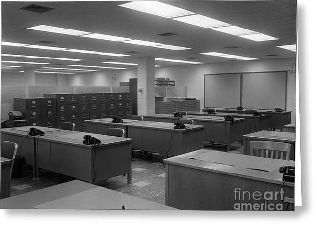 Empty Office, C.1950-60s Greeting Card