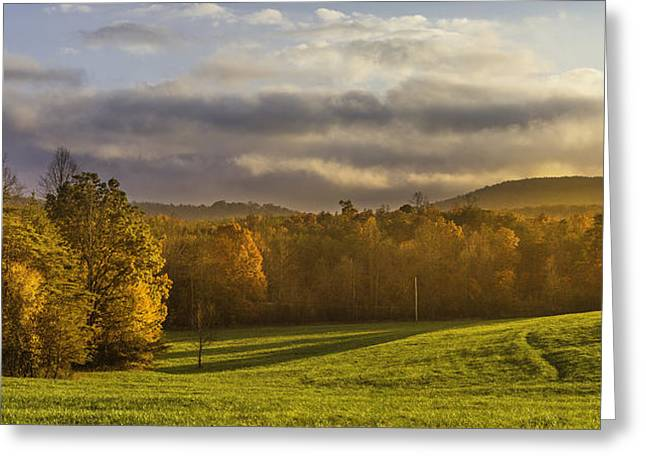 Empty Pasture - Cows Needed Greeting Card