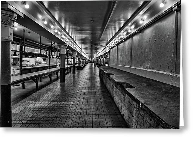 Empty Pike Place Market In Seattle Greeting Card