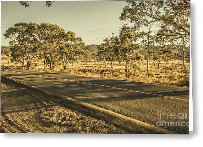 Empty Regional Australia Road Greeting Card by Jorgo Photography - Wall Art Gallery