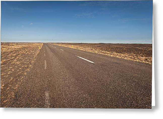 Empty Road, Iceland Greeting Card