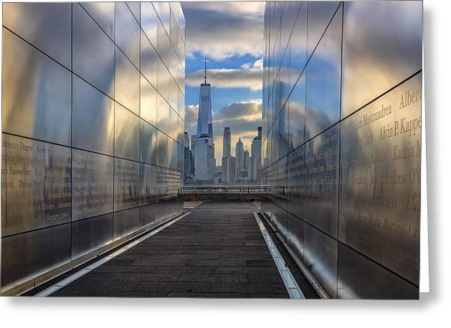 Empty Sky Memorial Greeting Card by Rick Berk