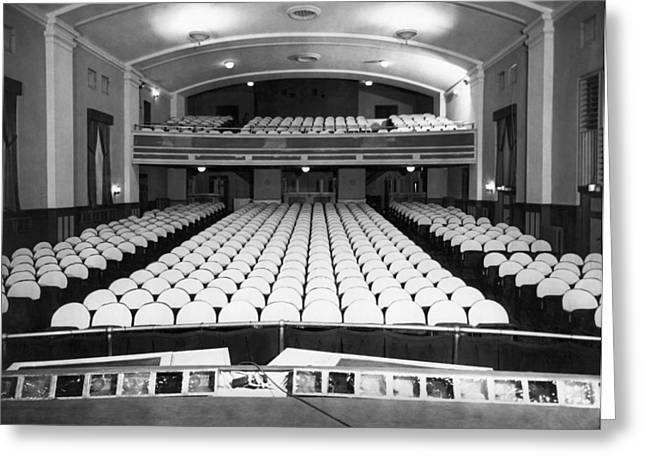 Empty Theater Interior Greeting Card