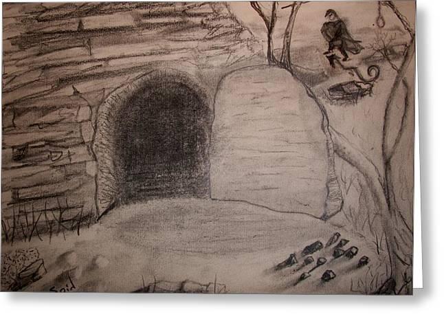 Empty Tomb Greeting Card by Spencer  Joyner