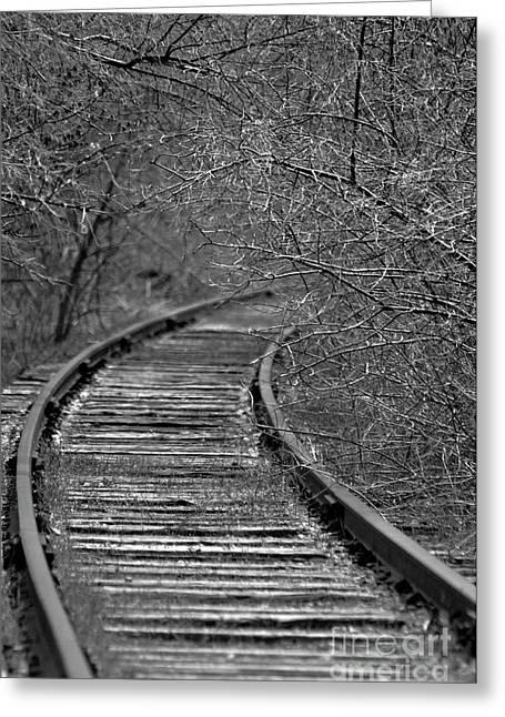 Empty Tracks Greeting Card