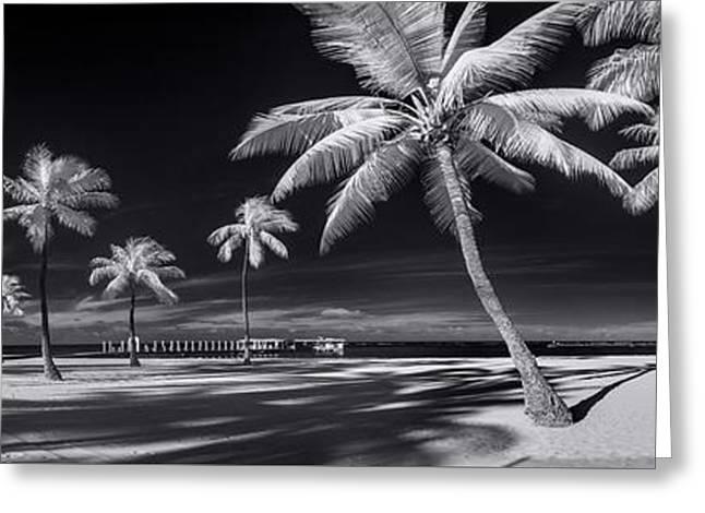 Empty Waikiki Beach Greeting Card by Sean Davey