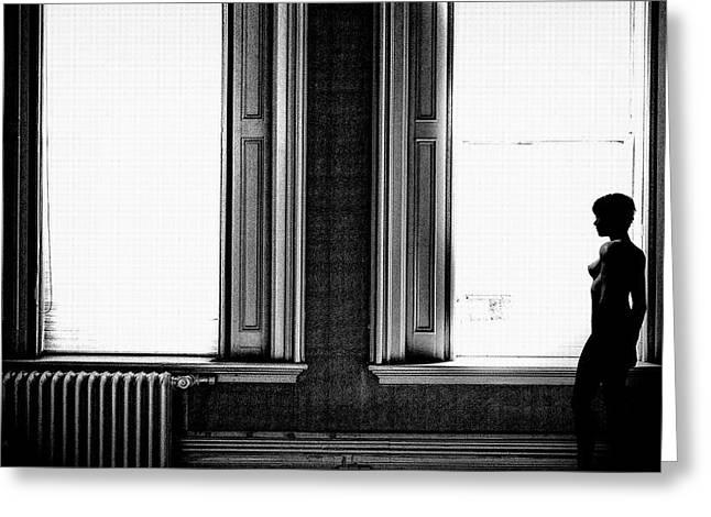 Empty Windows Greeting Card by Bob Orsillo