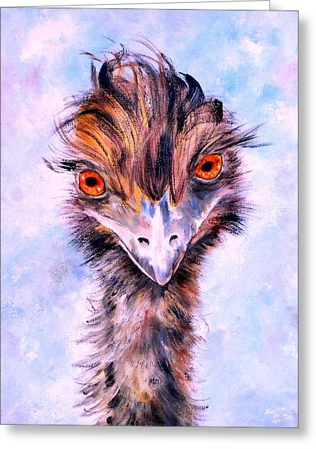 Emu Eyes Greeting Card