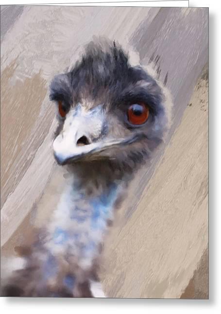 Emu Greeting Card by Gillian Dernie