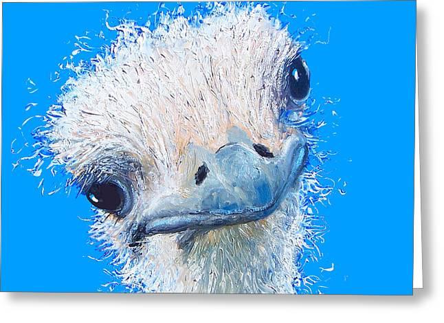 Emu Painting Greeting Card