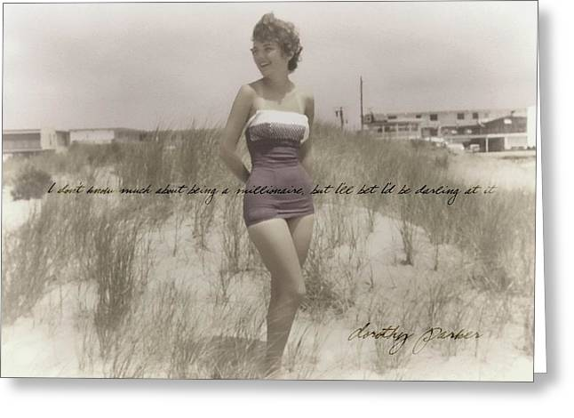 Emulating Marilyn Quote Greeting Card by JAMART Photography