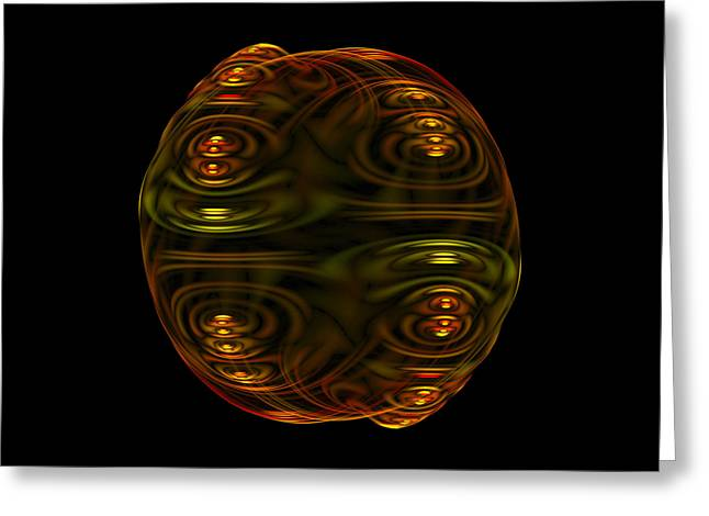 Emulsion II Fractal Greeting Card by Denise Beverly