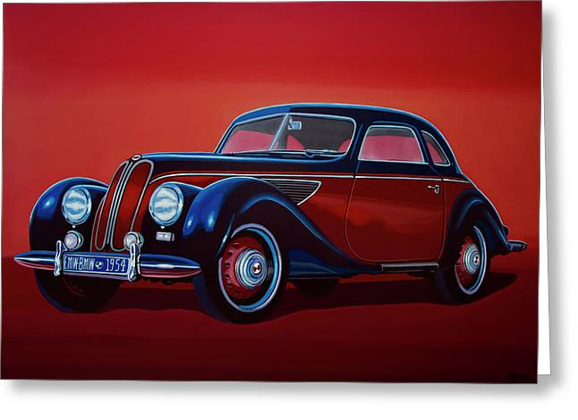 Emw Bmw 1951 Painting Greeting Card