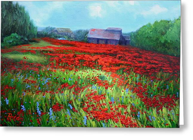 en route to Arles Greeting Card by Patricia Reed