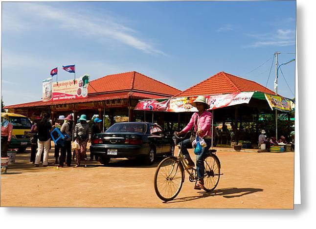 En Route To Siem Reap Greeting Card