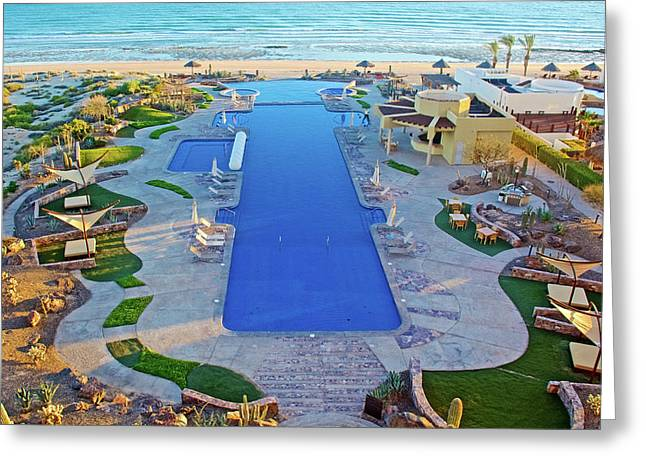 Greeting Card featuring the photograph Encanto Condos Pool South Of Puerto Penasco In Sonora-mexico by Ruth Hager