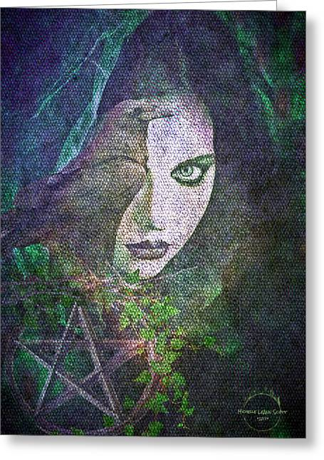 Enchanted Greeting Card by Absinthe Art By Michelle LeAnn Scott