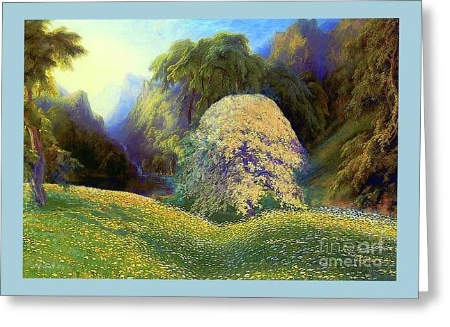 Enchanted By Daisies, Modern Impressionism, Wildflowers, Silver Birch, Aspen Greeting Card