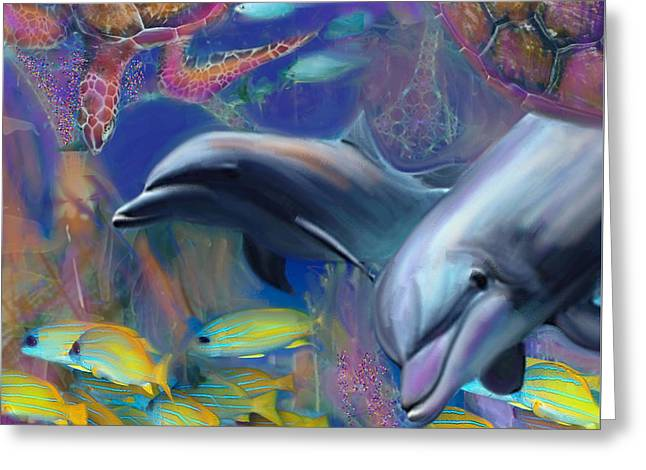 Enchanted Dolphins Greeting Card