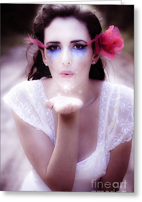 Enchanted Fairy Kisses Greeting Card by Jorgo Photography - Wall Art Gallery