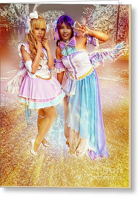 Enchanted Fairy Queens Greeting Card by Ian Gledhill