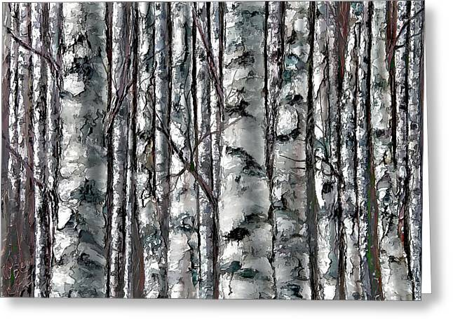 Enchanted Forest -black And White Greeting Card