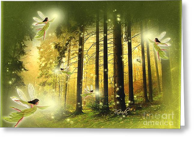 Greeting Card featuring the digital art Enchanted Forest - Fantasy Art By Giada Rossi by Giada Rossi