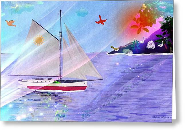 Enchanted Isle Greeting Card by Madeline  Allen - SmudgeArt