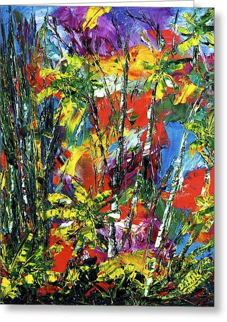 Enchanted Jungle  #167 Greeting Card by Donald k Hall