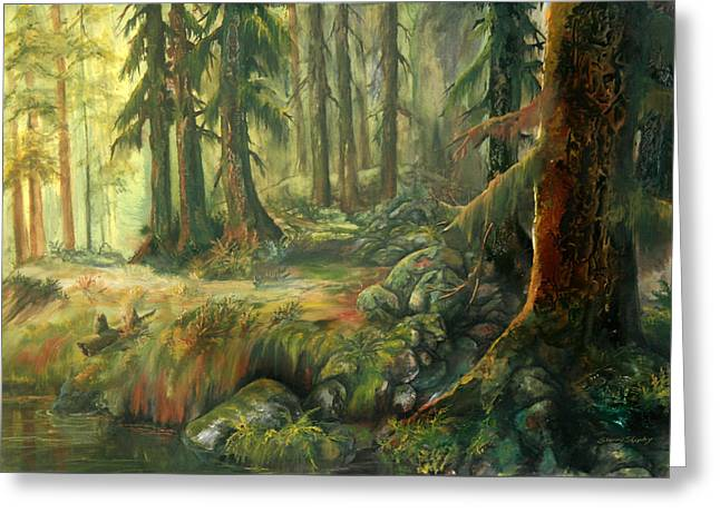 Enchanted Rain Forest Greeting Card