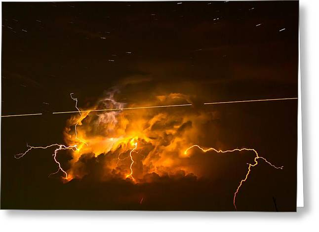 Enchanted Rock Lightning Greeting Card