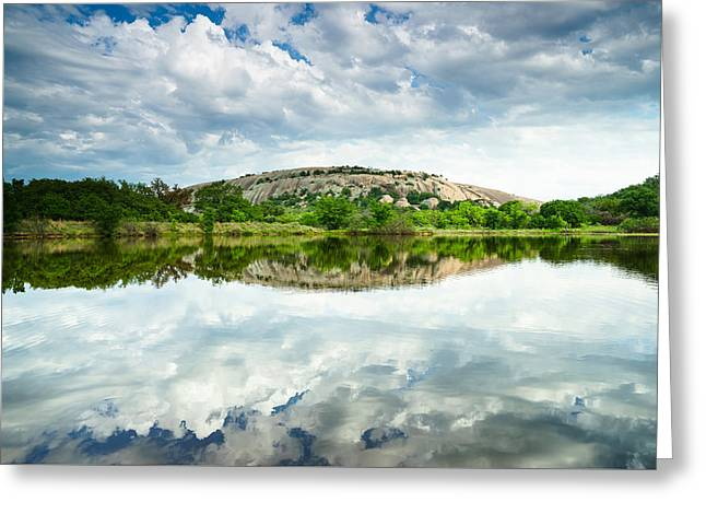 Enchanted Rock On A Cloudy Day - Texas Greeting Card