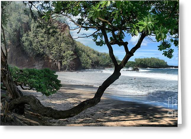 Enchanted Rocks Koki Beach Haneoo Hana Maui Hawaii Greeting Card