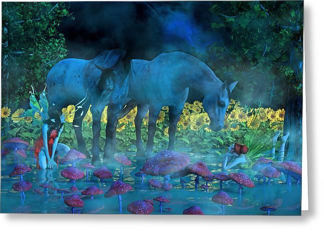 Enchanting Dreams Greeting Card by Betsy Knapp