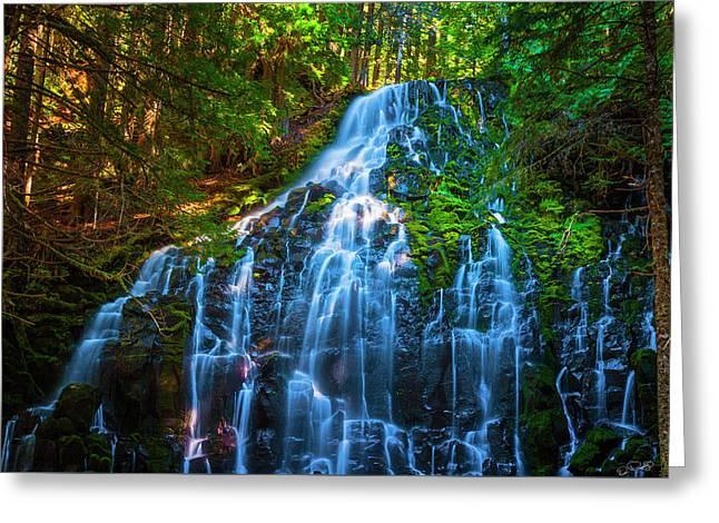 Enchanting Ramona Falls Greeting Card